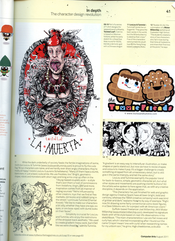 Character Design Magazine : Computers art magazine feature the character design