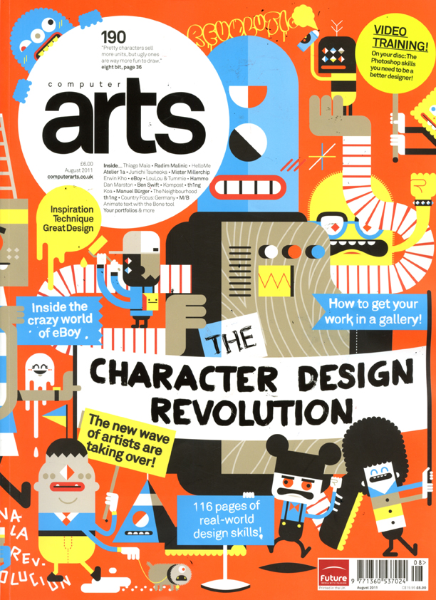 Character Design Quarterly Download : Computers art magazine feature the character design